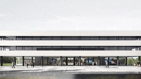 Der geplanten Forschungsneubau für das Lehmann-Zentrum auf dem Campus der TU Dresden.
