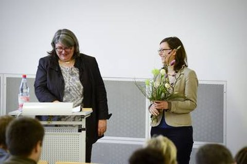Awarding of the excellence prize at E-Teaching Day 2015