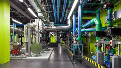 Rechenzentrum von Innen; Kühlsystem