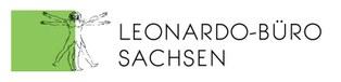 Logo des LEONARDO-BÜROS mit Schriftzug und Vitruvian