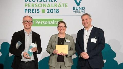 Verleihung Personalrätepreis in Silber 2018