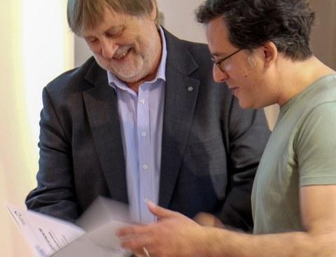 Fellows Lunch_Dr. Osvaldo Chara+Prof. Rödel