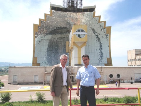Prof. Erkinjon Matjanov und Prof. Gampe