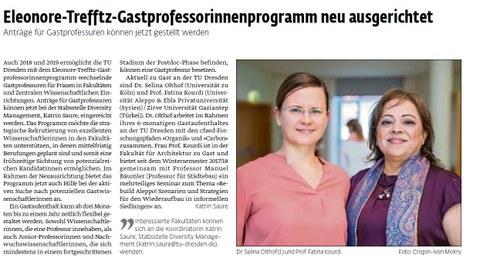 Screenshot UJ article on Trefftz professors Olthof and Kourdi