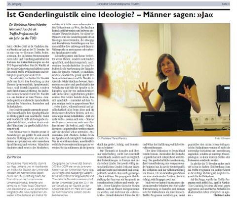 Screenshot UJ article on Trefftz professor Vladislava Warditz
