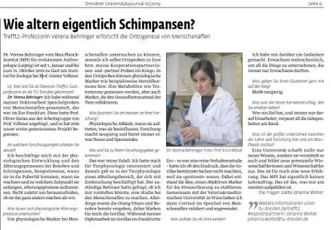 Screenshot UJ article on Trefftz professor Dr. Verena Behringer