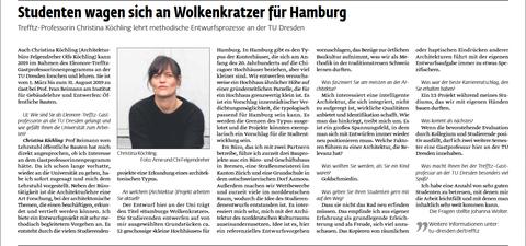 Screenshot of article on Trefftz professor Christina Köchling