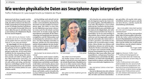 Screenshot of article on Trefftz professor Lana Ivanjek
