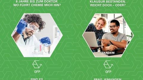 Collage Postkarten Chemie+Tandem-Programm