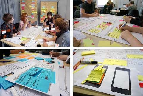 Impressionen vom Usability Workshop