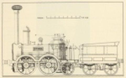 "Entwurf der Dampflokomotive ""Saxonia"""