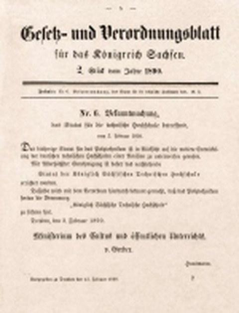 Amtliche Bekanntmachung vom 3. Februar 1890
