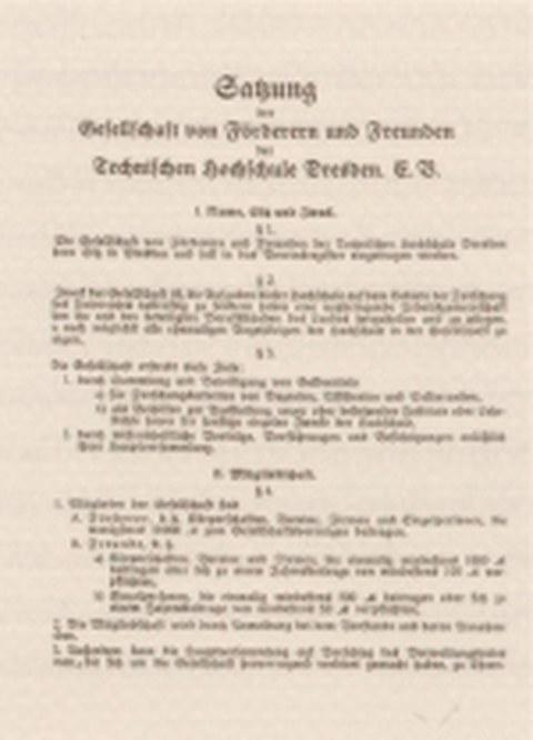 Satzung der Gesellschaft von Förderern und Freunden der Technischen Hochschule Dresden e.V.