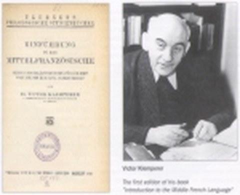 Viktor Klemperer - Romanist an der Kulturwissenschaftlichen Abteilung