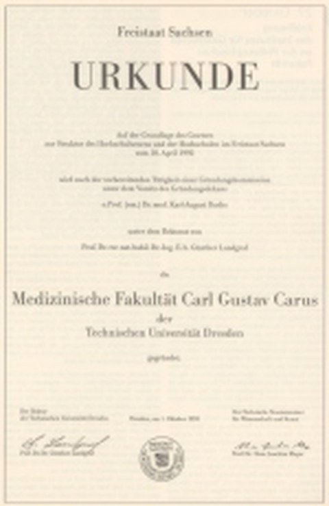 Gründung der Medizinischen Fakultät Carl Gustav Carus