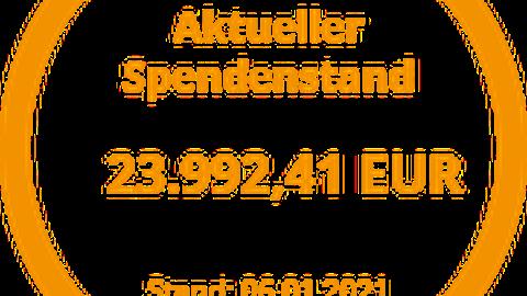 Sepndenstand in HÖhe von 23.992,41 Euro vom 09. Januar 2021