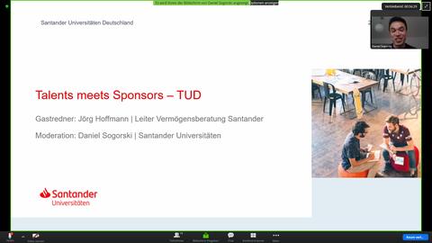 Startbildschirm Workshop Santander