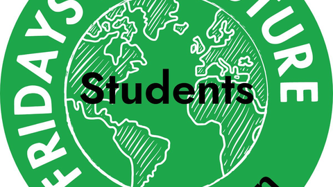 "Logo von Students for Future mit Aufschrift ""Fridays for Future Students Dresden""."