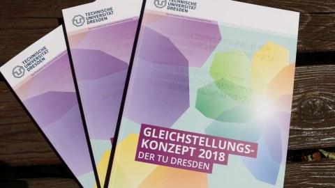 Cover des Gleichstellungskonzepts 2018 der TU Dresden