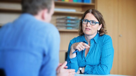 Photo in conversation during counselling