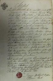 Bestätigung der Pockenimpfung 1818 in Sachsen