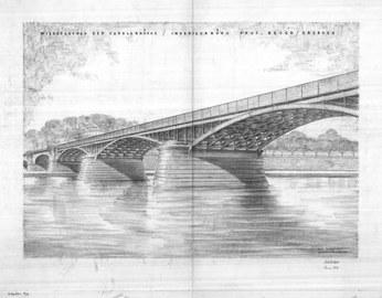Entwurf zum Wiederaufbau der Carolabrücke 1946
