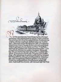 """Ausarbeitung zu Haenel """"Das alte Dresden"""" um 1940"""