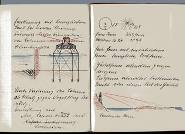 """Vorlesungsmitschrift """"Seebau"""" des Studierenden M. Arndt bei Prof. Engels 1907-1909"""