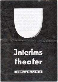 Interimstheaterzettel für Dresden 1945
