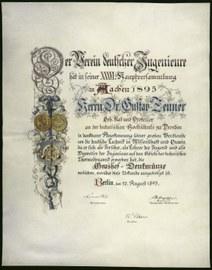 Grashof-Denkmünze 1895