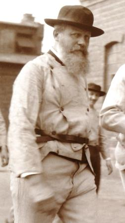 Prof. Walther Hempel bei einer Exkursion im Jahr 1904.