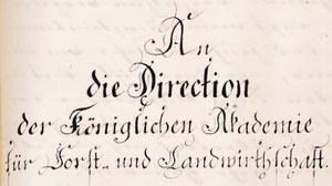 Anschreiben FA Tharndt 1861