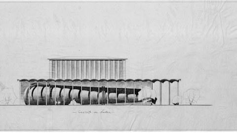 Bau des Windkanales der TH Dresden