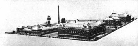 Bebauung des Geländes in der Südvorstadt 1905