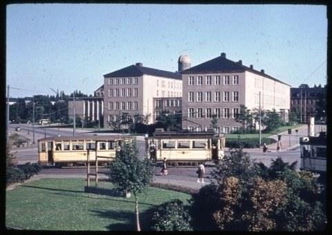 Hochschule für Verkehrswesen am Hettnerplatz um 1956