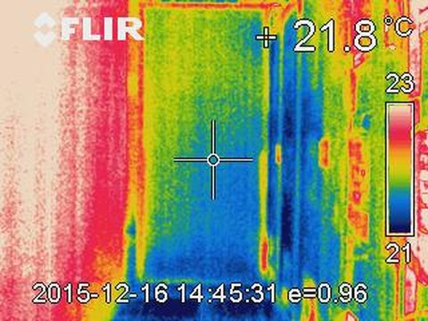Luftkühlung Wärmebild