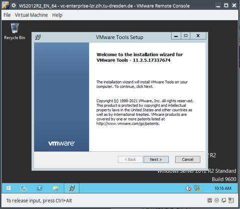 Install/Update VMware-Tools - Step 4