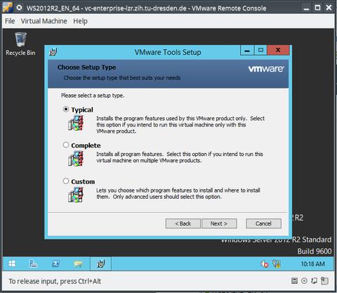 Install/Update VMware-Tools - Step 5