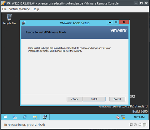 Install/Update VMware-Tools - Step 6