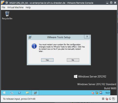 Install/Update VMware-Tools - Step 8