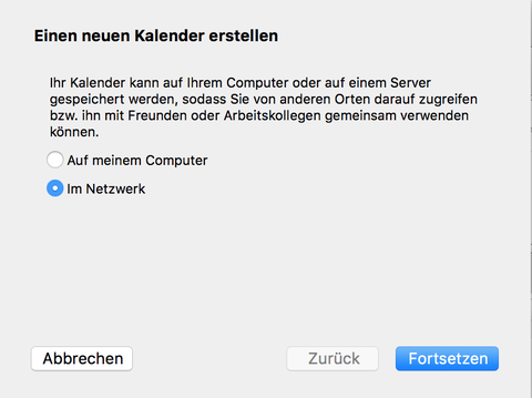 """Option im """"Netzwerk"""""""