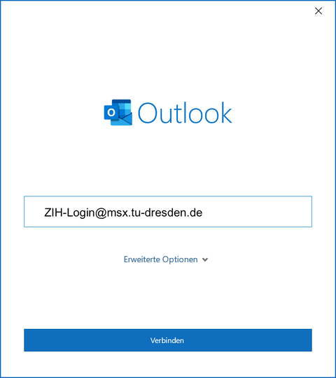 Einrichtung Outlook Schritt 2