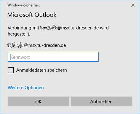 Einrichtung Outlook Schritt 3