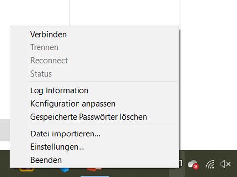OpenVPN Menu Windows