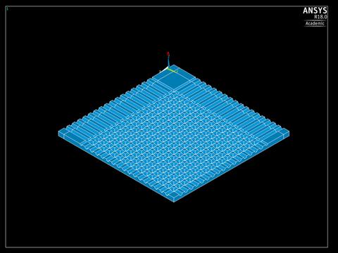 Viertelmodell, Blick ins Deckeninnere mit sichtbaren CC-Strukturen