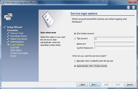 GUI Setup Wizard  scheduler  login option