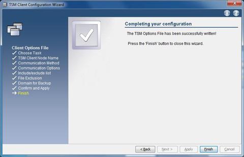 GUI options finish