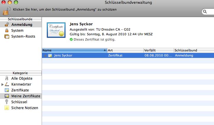 Konfiguration des Nutzerzertifikats im E-Mail-Programm — Zentrum für ...