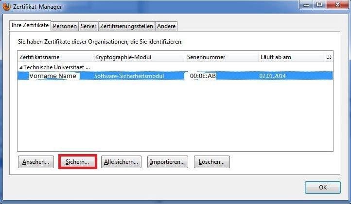 Zertifikat aus Mozilla Firefox exportieren — Zentrum für ...