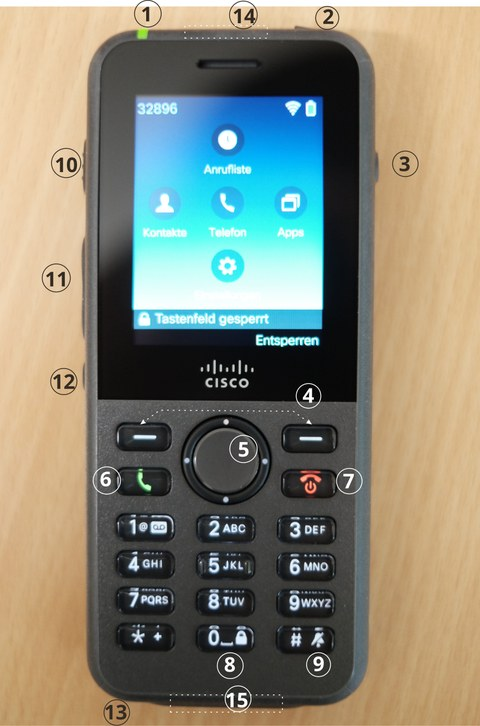 Cisco CP-8821 front